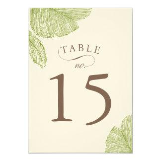 Vintage Palm Tree Wedding Table Number Cards
