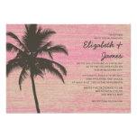 Vintage Palm Trees Burlap Wedding Invitations Invitation
