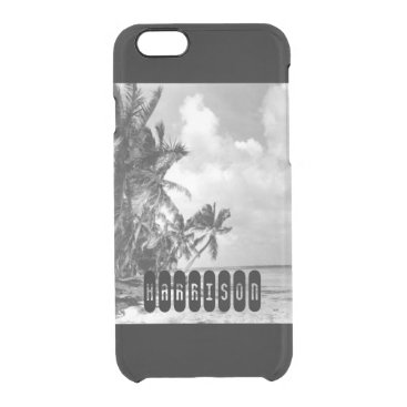Beach Themed Vintage Palm Trees Clear iPhone 6/6S Case