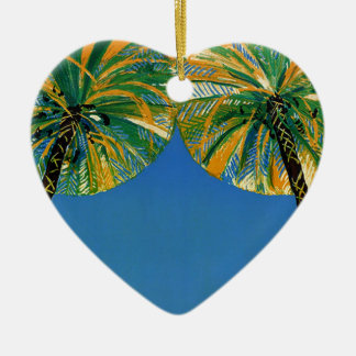 Vintage Palm Trees Cote D'Azur Christmas Ornaments