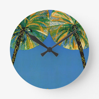 Vintage Palm Trees Cote D'Azur Clock