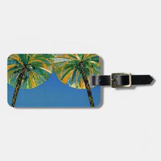 Vintage Palm Trees Cote D'Azur Luggage Tag