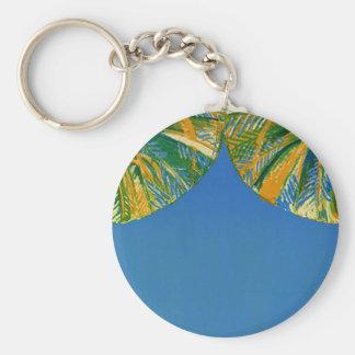 Vintage Palm Trees Cote D'Azur Travel Keychain