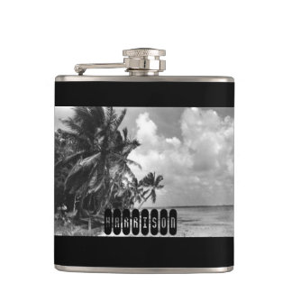 Vintage Palm Trees Hip Flask