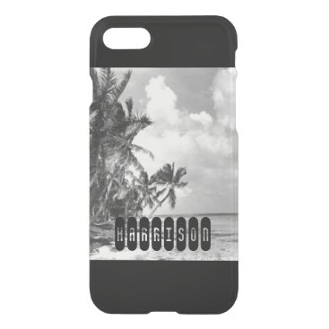 Beach Themed Vintage Palm Trees iPhone 7 Case