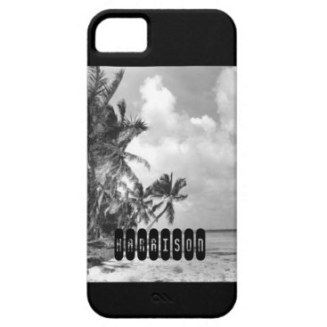 Beach Themed Vintage Palm Trees iPhone SE/5/5s Case
