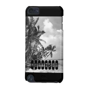 Beach Themed Vintage Palm Trees iPod Touch 5G Cover