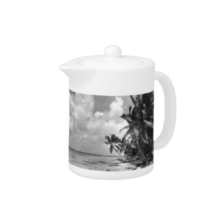 Vintage Palm Trees Teapot