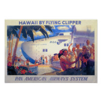 Vintage Pan American Travel Poster - Hawaii