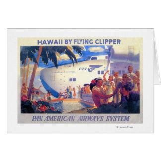 Vintage Pan American Travel Poster - Hawaii Cards