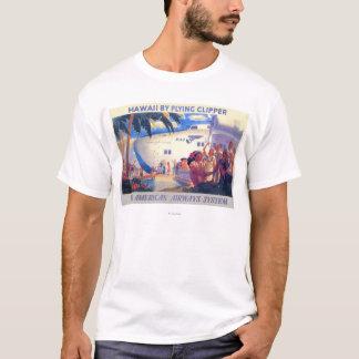 Vintage Pan American Travel Poster - Hawaii T-Shirt