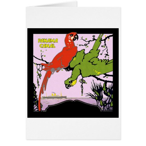 Vintage Panama Canal Stationery Note Card