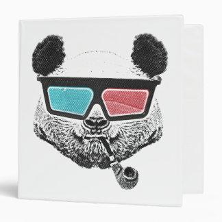 Vintage panda 3-D glasses 3 Ring Binder