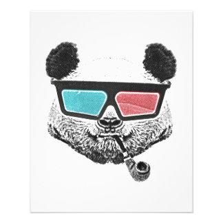 "Vintage panda 3-D glasses 4.5"" X 5.6"" Flyer"