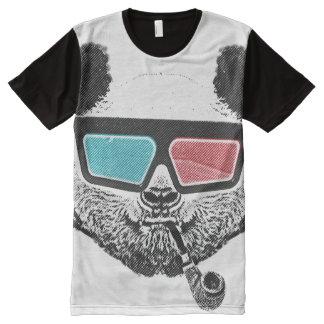 Vintage panda 3-D glasses All-Over Print Shirt