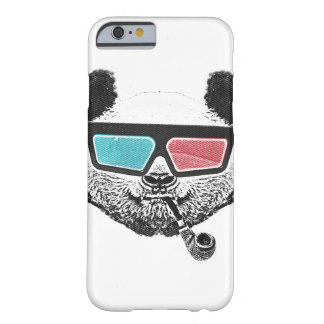 Vintage panda 3-D glasses Barely There iPhone 6 Case