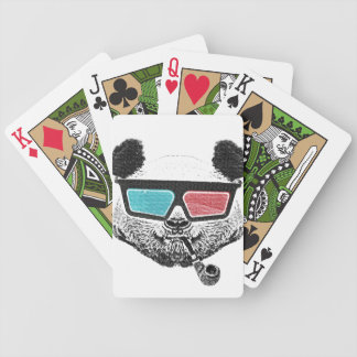 Vintage panda 3-D glasses Bicycle Playing Cards