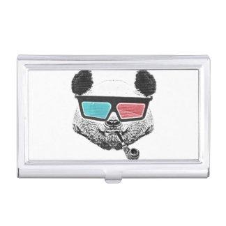Vintage panda 3-D glasses Business Card Holder