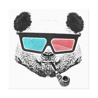 Vintage panda 3-D glasses Gallery Wrap Canvas