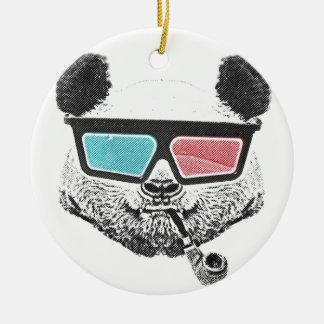 Vintage panda 3-D glasses Ceramic Ornament