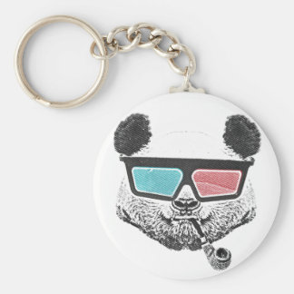 Vintage panda 3-D glasses Keychain