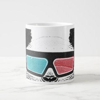 Vintage panda 3-D glasses Large Coffee Mug