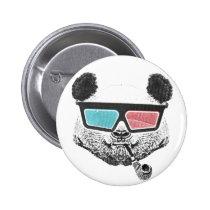 80's, funny, geek, panda, urban, cool, street art, vintage, lifestyle, button, nerd, swag, crazy, humor, original, round button, Button with custom graphic design