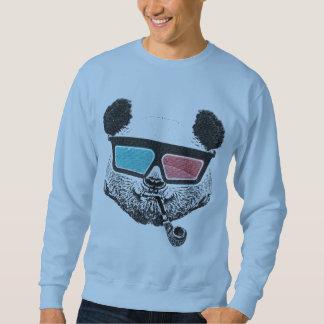 Vintage panda 3-D glasses Pullover Sweatshirt