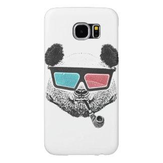 Vintage panda 3-D glasses Samsung Galaxy S6 Case