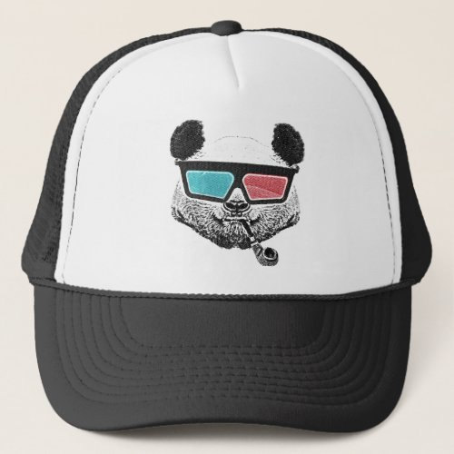 Vintage panda 3_D glasses Trucker Hat