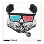 Vintage panda 3-D glasses Wall Decals