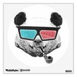 Vintage panda 3-D glasses Wall Skins