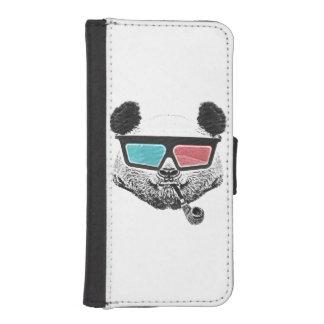 Vintage panda 3-D glasses Wallet Phone Case For iPhone SE/5/5s
