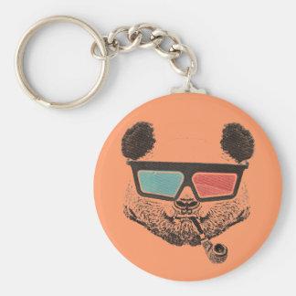 Vintage panda 3D glasses Keychain