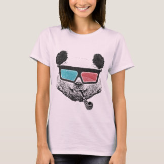 Vintage panda 3D glasses T-Shirt