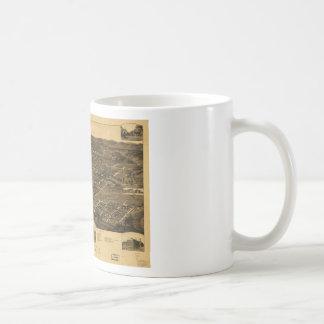 Vintage Panoramic Map Of Anniston Alabama 1887 Coffee Mugs