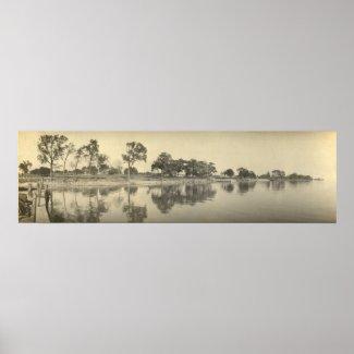 Vintage Panoramic of Kelleys Island, OH - Coast