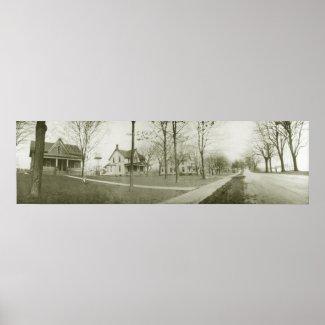 Vintage Panoramic of Kelleys Island W Lakeshore Dr