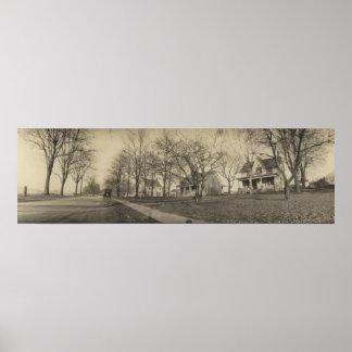 Vintage Panoramic W Lakeshore Dr - Kelleys Island Poster