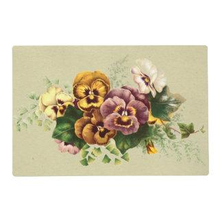 Vintage Pansies Bouquet Placemat