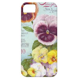 Vintage Pansies iPhone SE/5/5s Case