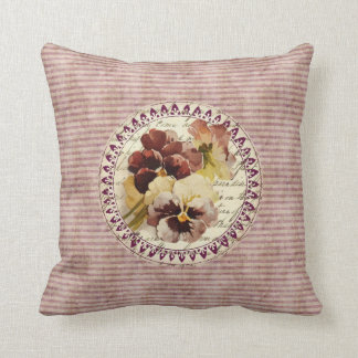 Vintage Pansies Pillows