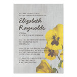 Vintage Pansy Bridal Shower Invitations Custom Announcement