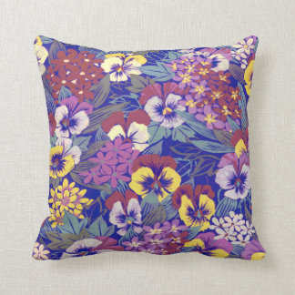 Vintage Pansy  ~ Pillow/Cushion Throw Pillow