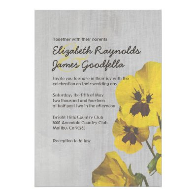 The Most Beautiful Wedding Invitations RSVP Cards And Much More Vintage Pansy Wedding Invitations