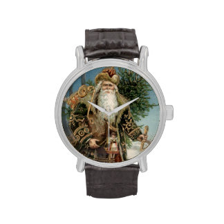 Vintage Papá Noel 3 Relojes De Mano