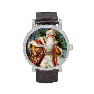 Vintage Papá Noel 5 Reloj