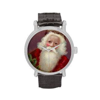Vintage Papá Noel 7 Reloj