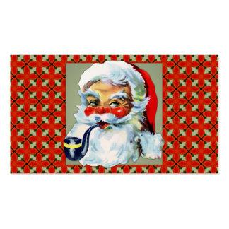 Vintage Papá Noel alegre Tarjetas De Negocios