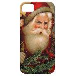 Vintage Papá Noel con el bastón iPhone 5 Case-Mate Protectores